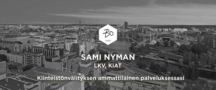 Sami Nyman (LKV, KiAT) Bo Kiinteistönvälitys