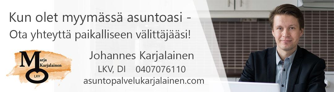 Kiinteistönvälittäjä Johannes Karjalainen - Asuntopalvelu Marja Karjalainen Oy, LKV • Tampere