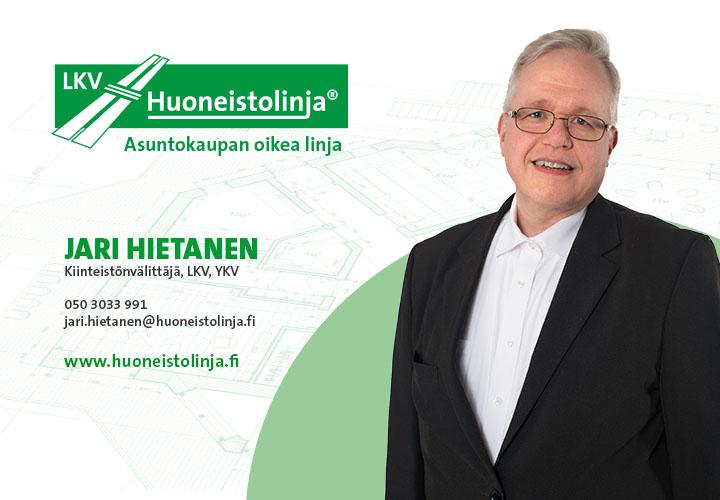 Kiinteistönvälittäjä Jari Hietanen - Huoneistolinja - Tampere