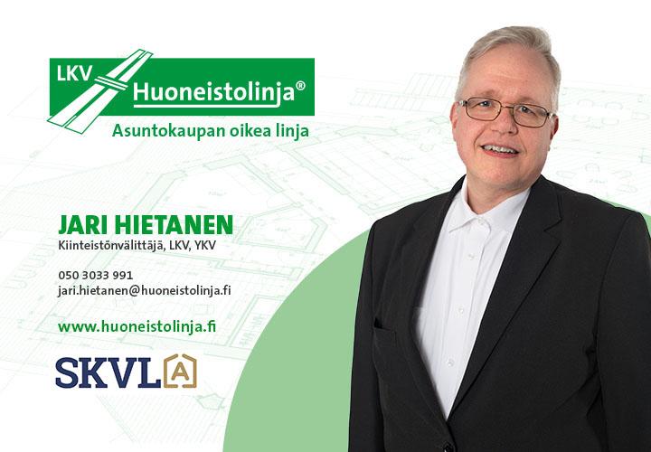 Kiinteistönvälittäjä Jari Hietanen - Huoneistolinja LKV - Tampere